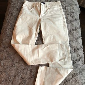 NYDJ Ankle cream colored jeans size 2